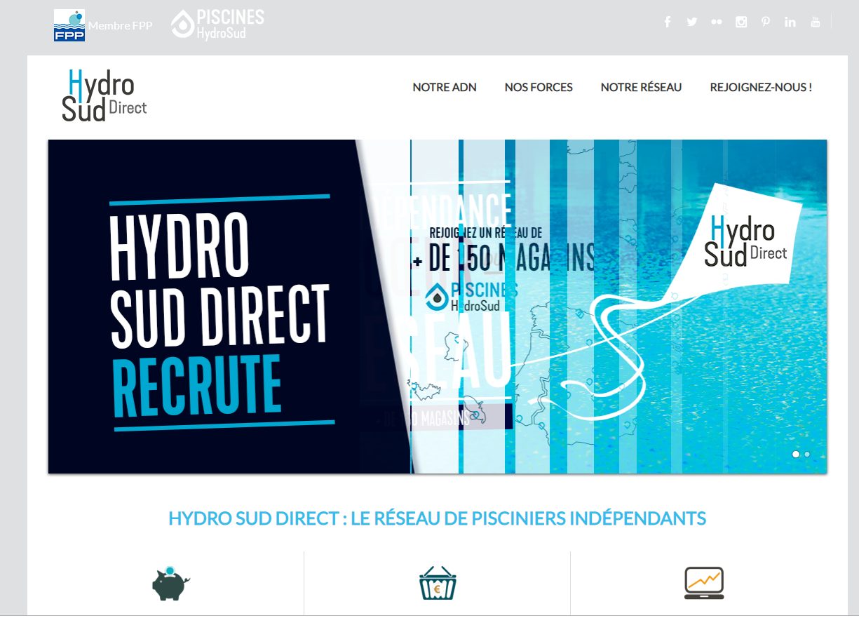 Site vitrine Hydro Sud Direct