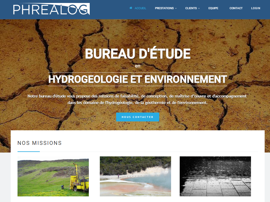 Site vitrine Phrealog