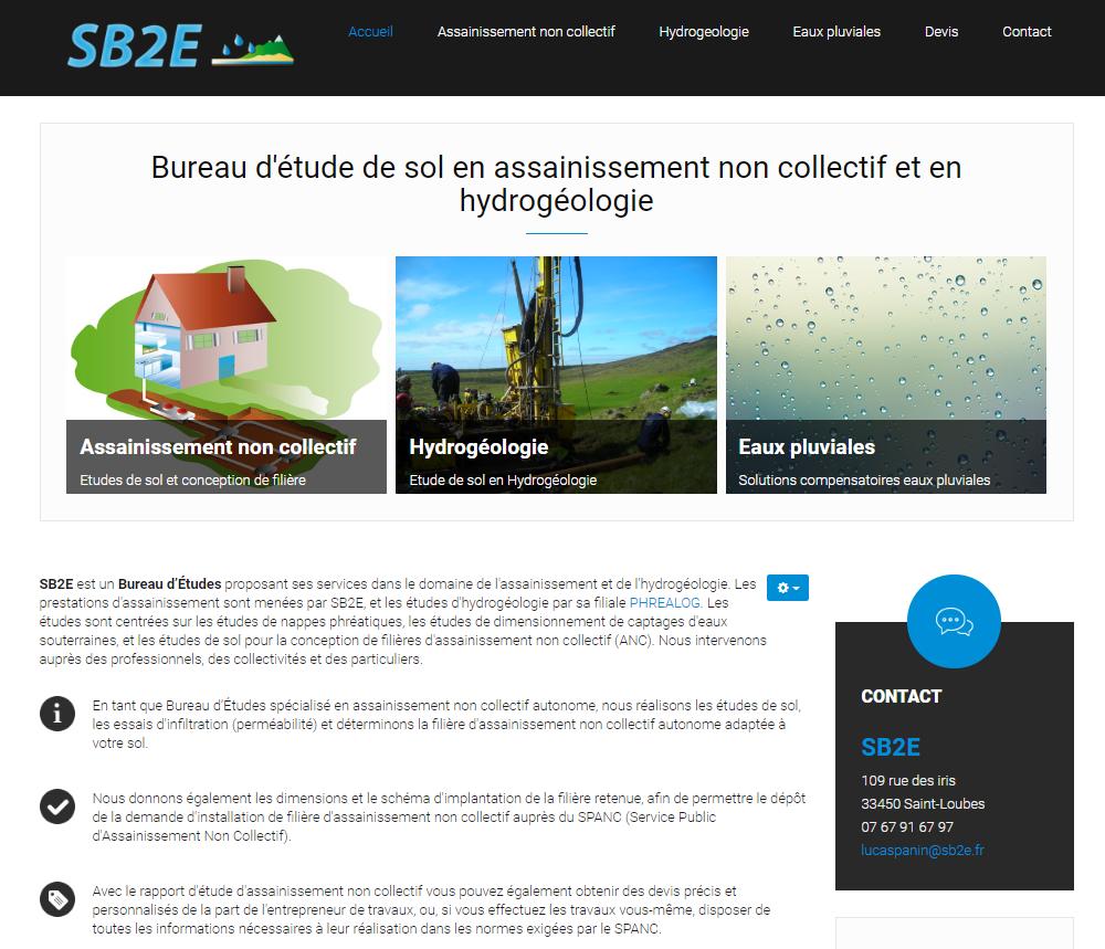 Site vitrine SB2E